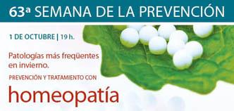 63ª Semana de la Prevención de la Fundación MGC sobre homeopatía