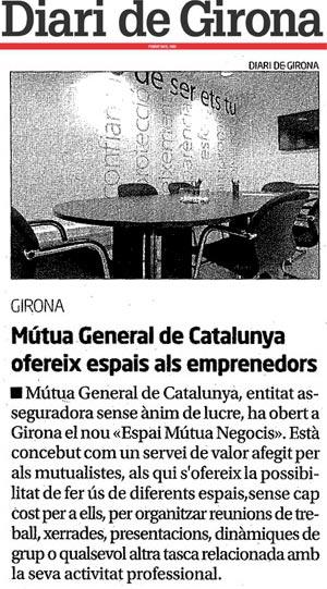 Artículo en el Diari de Girona