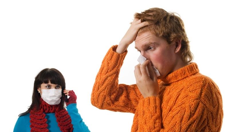 Hombre gripe