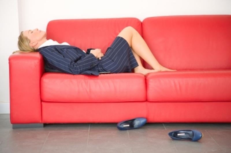 Mujer agotada