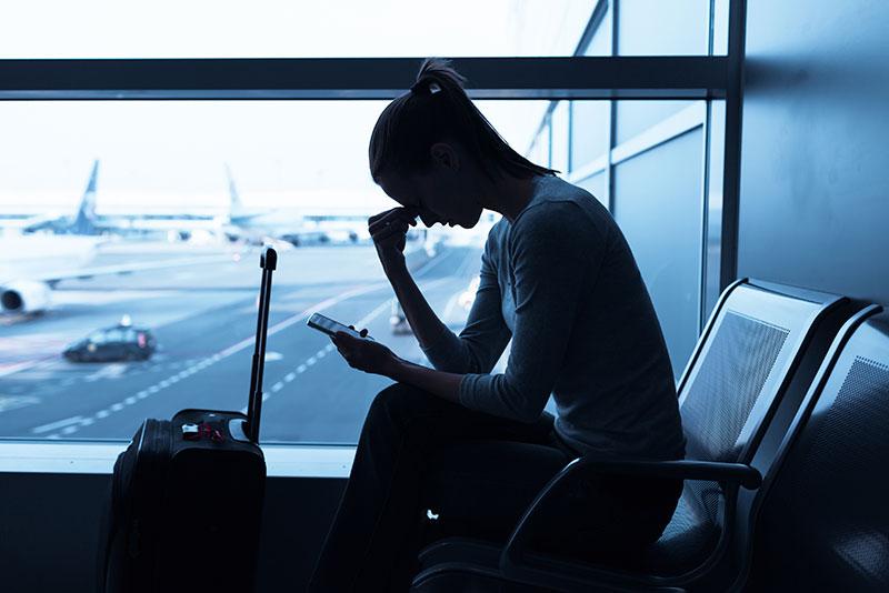 Estrés en el aeropuerto