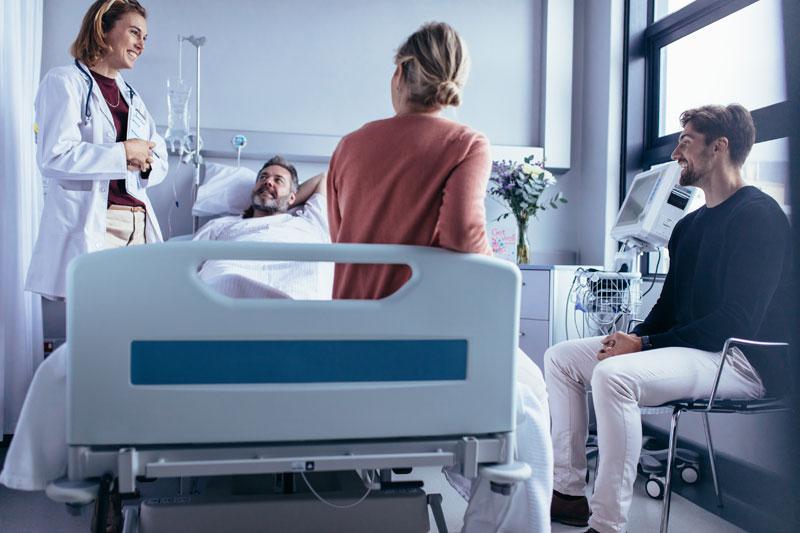 visita familiares hospital