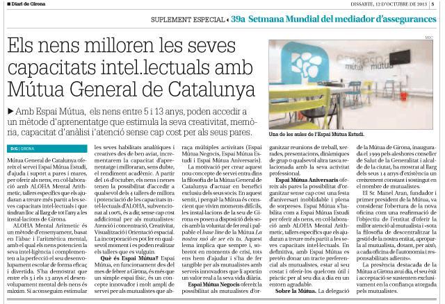 Los niños mejoran sus capacidades intelectuales con Mútua General de Catalunya