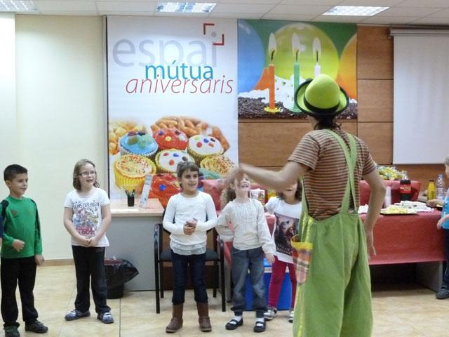 Celebració d'aniversari a l'Espai Mútua d'Igualada