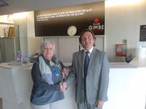 Acuerdo de colaboración de Mútua General de Catalunya y el Club Gimbe de Manresa