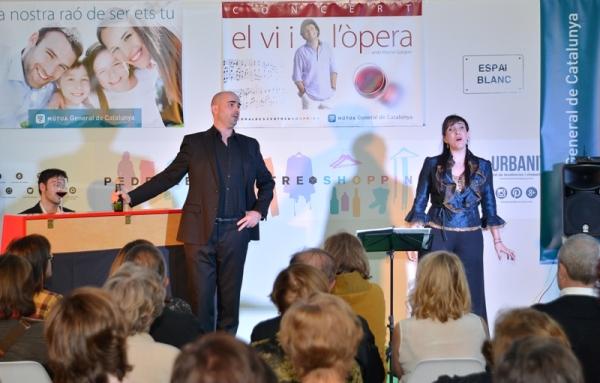 El concierto «El vino en la ópera», un éxito más de la Mútua en Pedralbes Centre