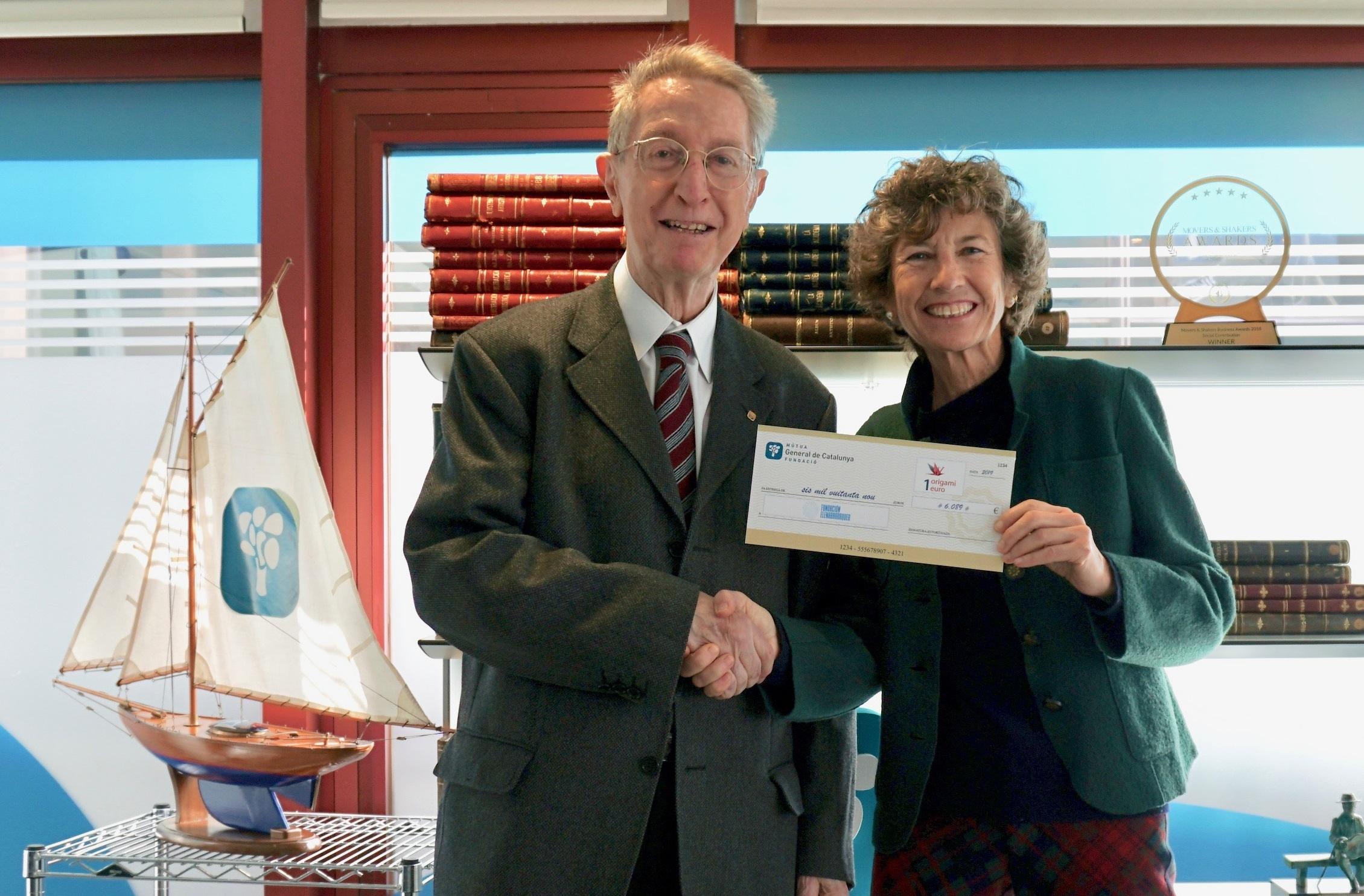 Fundació Onada y Fundación Elena Barraquer reciben las donaciones económicas de 1 origami 1 euro