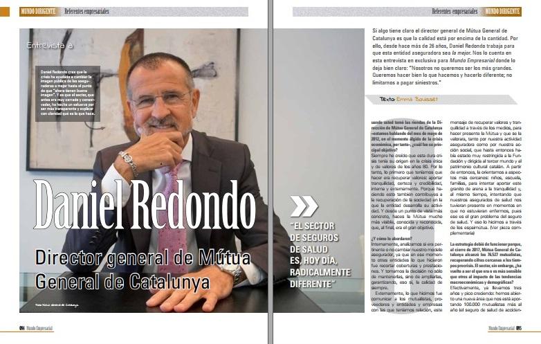 """Daniel Redondo: """"El sector de seguros de salud es, hoy día, radicalmente diferente"""""""