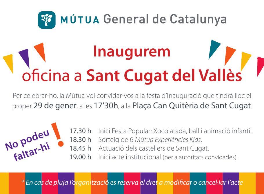 Inauguramos oficina en Sant Cugat y queremos a hacer una ¡gran fiesta!