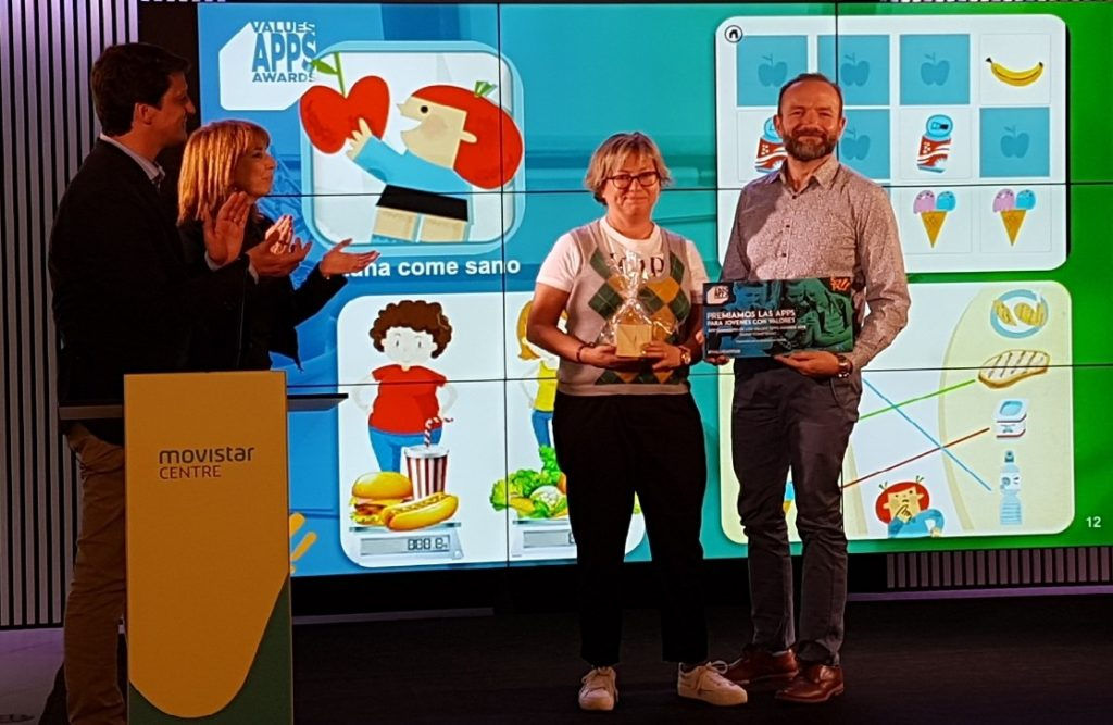 """Diana come sano"", de la Fundación Mútua General de Catalunya, premiada en los Values Apps Awards"