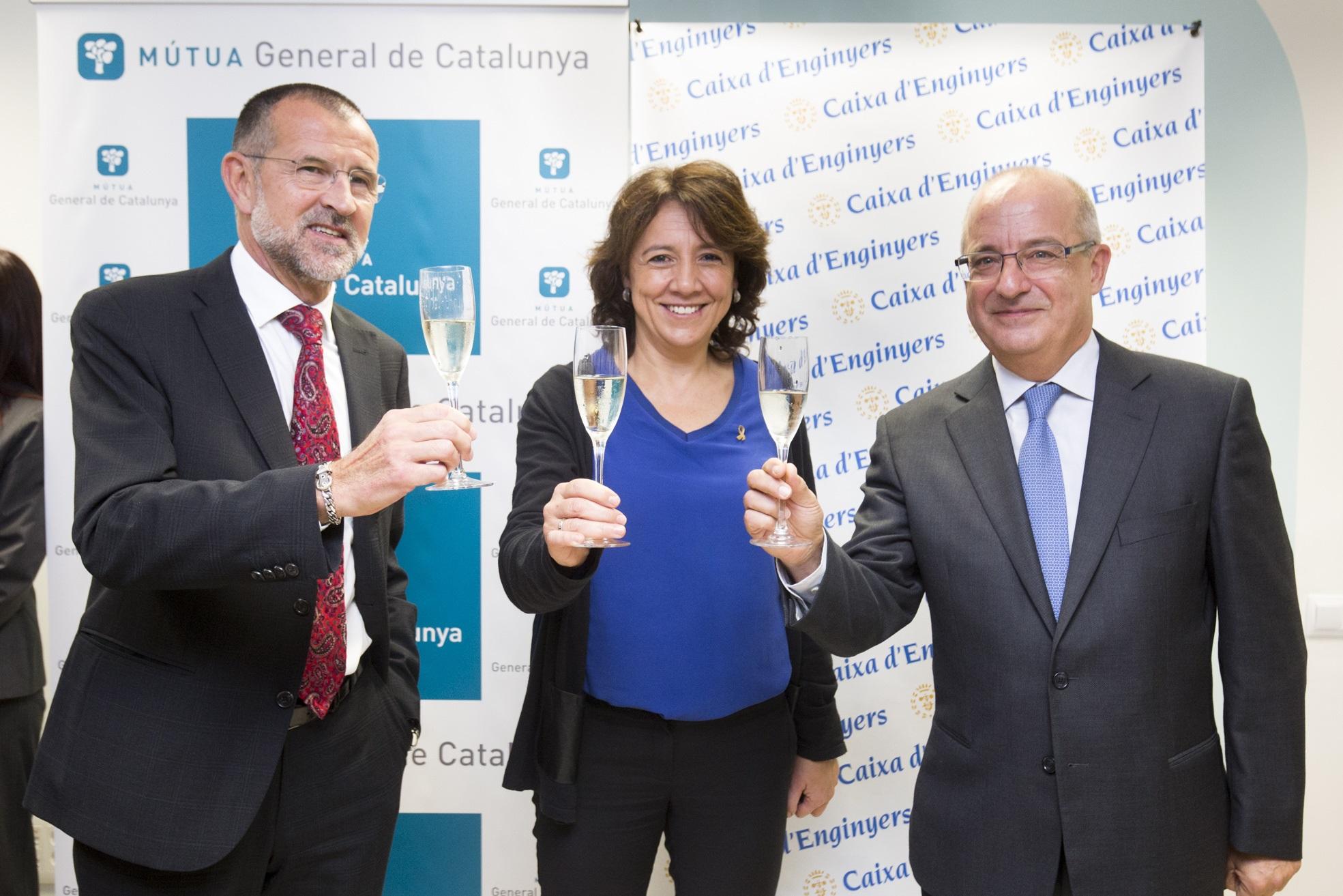 Inauguración de nuevos espacios de Caja de Ingenieros en las oficinas de Mútua General de Catalunya en Vic y Manresa