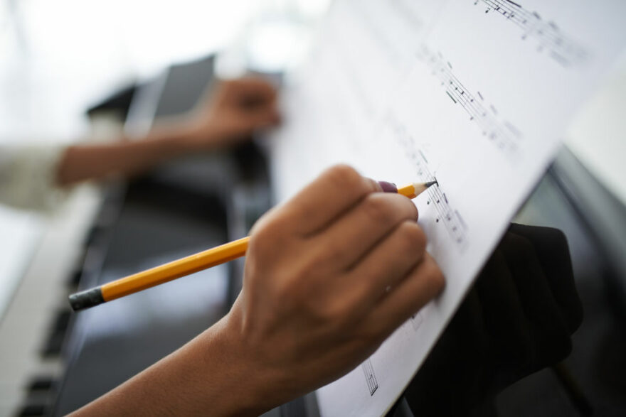 Aprendizaje musical partitura